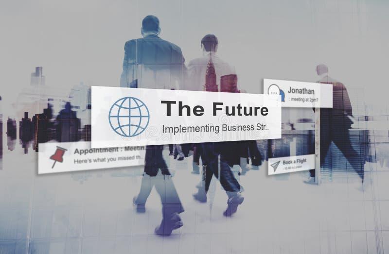 O conceito do desenvolvimento da inovação da visão da estratégia do plano futuro fotografia de stock royalty free