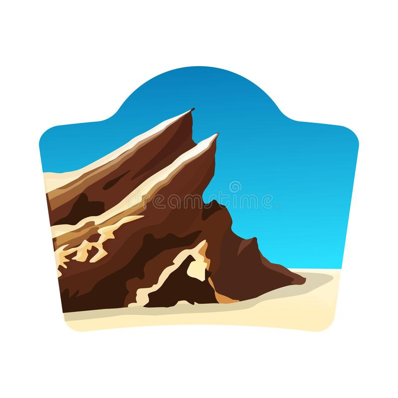 O conceito do logotipo do curso com vasquez balança, céu azul ilustração royalty free