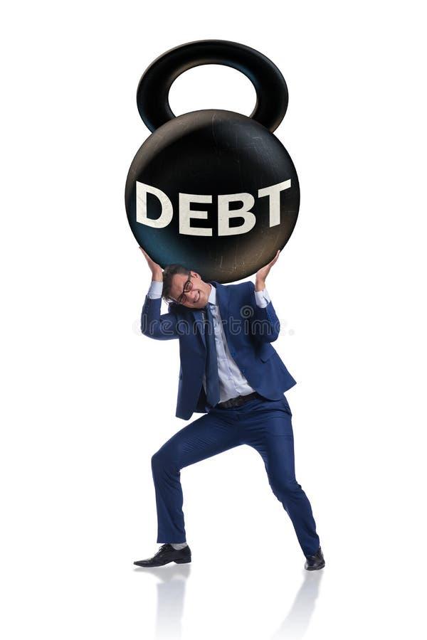 O conceito do negócio do débito e do empréstimo fotos de stock royalty free