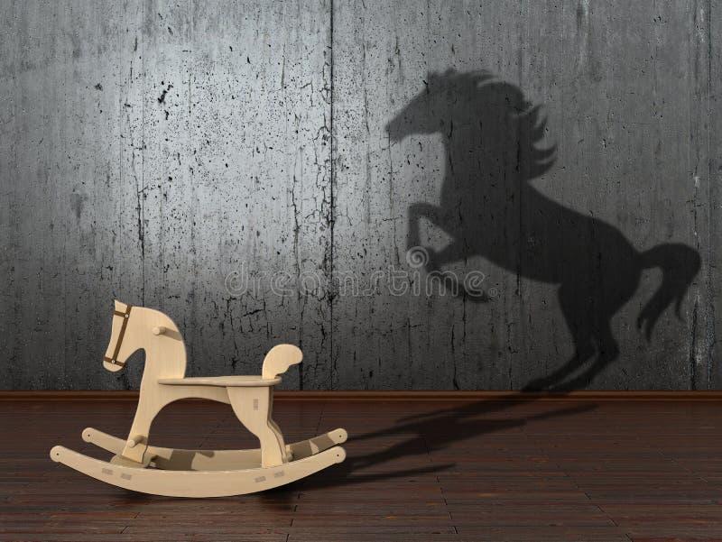 O conceito do potencial escondido ilustração royalty free