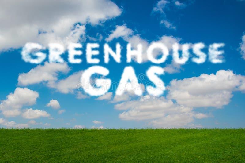 O conceito ecológico das emissões de gases de efeito estufa ilustração do vetor