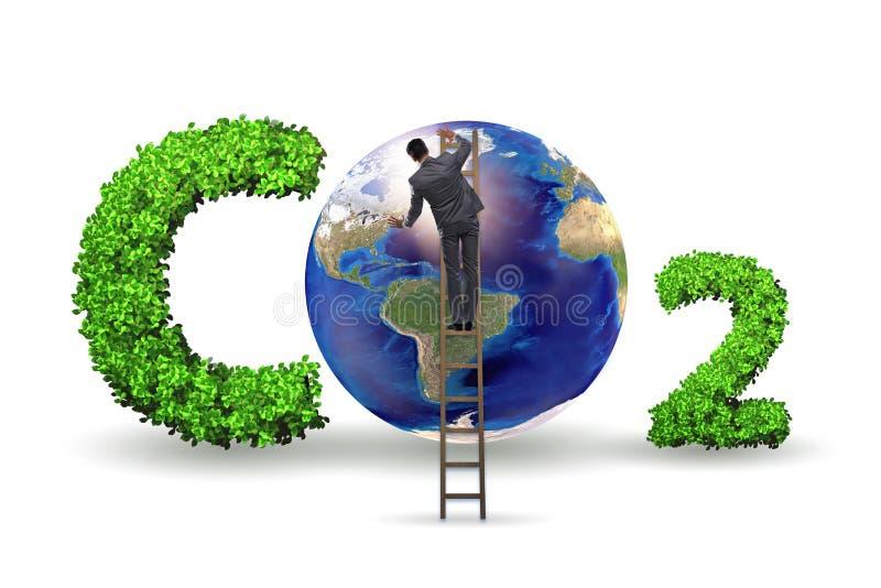O conceito ecol?gico das emiss?es de gases de efeito estufa ilustração royalty free
