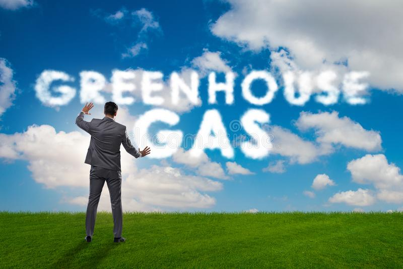 O conceito ecol?gico das emiss?es de gases de efeito estufa fotos de stock royalty free