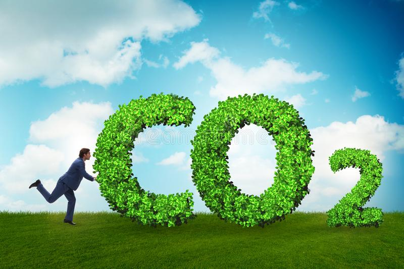 O conceito ecol?gico das emiss?es de gases de efeito estufa foto de stock