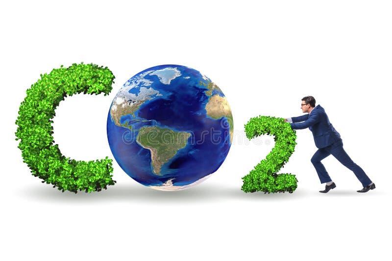 O conceito ecol?gico das emiss?es de gases de efeito estufa imagens de stock
