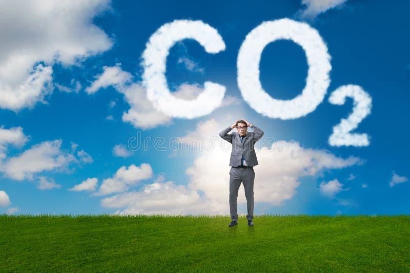 O conceito ecol?gico das emiss?es de gases de efeito estufa imagem de stock royalty free