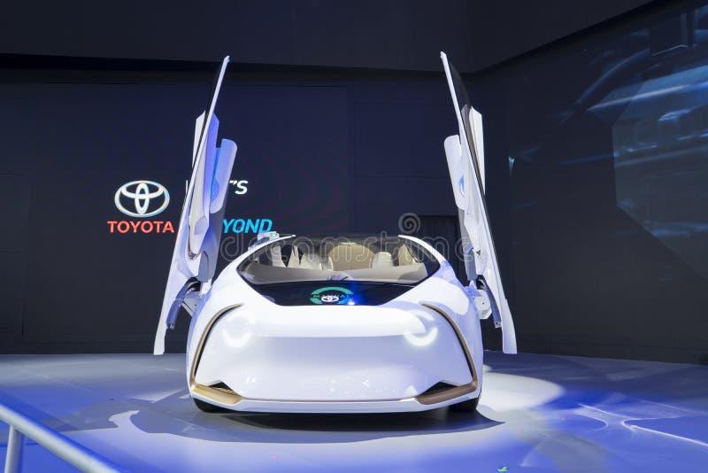 O conceito-eu de Toyota indicou em GIIAS 2018 fotografia de stock royalty free