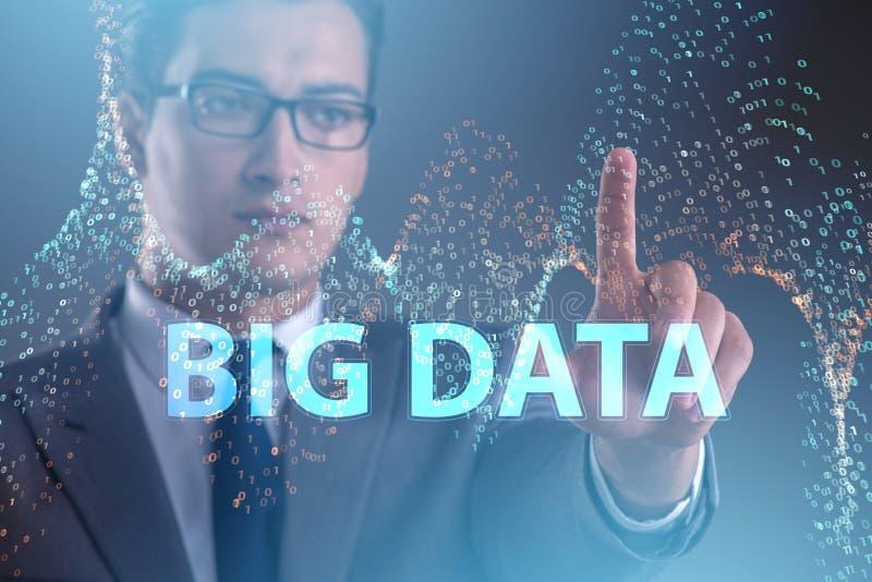 O conceito grande dos dados com o analista da mineração de dados imagem de stock royalty free
