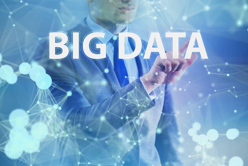 O conceito grande dos dados com o analista da mineração de dados ilustração do vetor