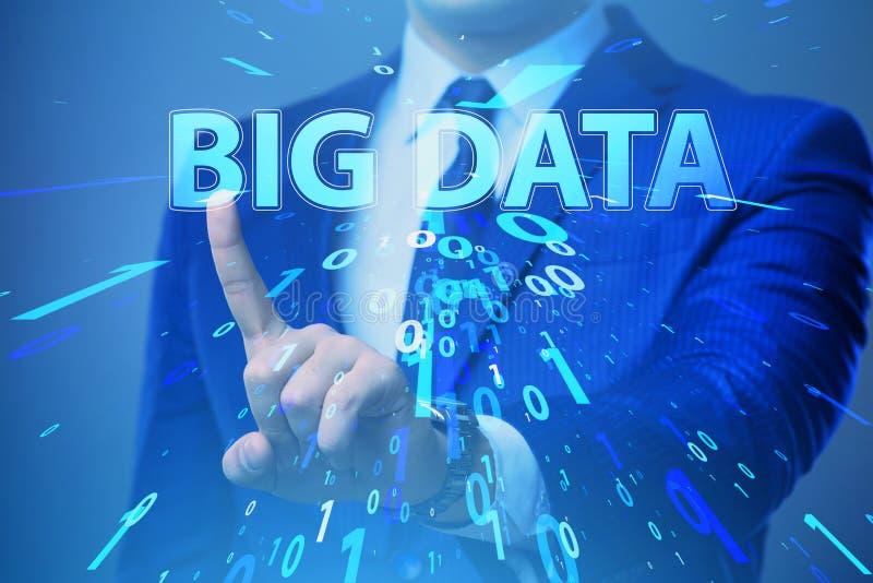 O conceito grande financeiro dos dados do fintech com analista fotos de stock royalty free