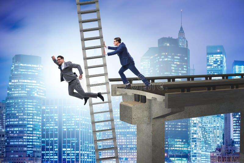 O conceito não-ético da competição do negócio com homens de negócios ilustração do vetor