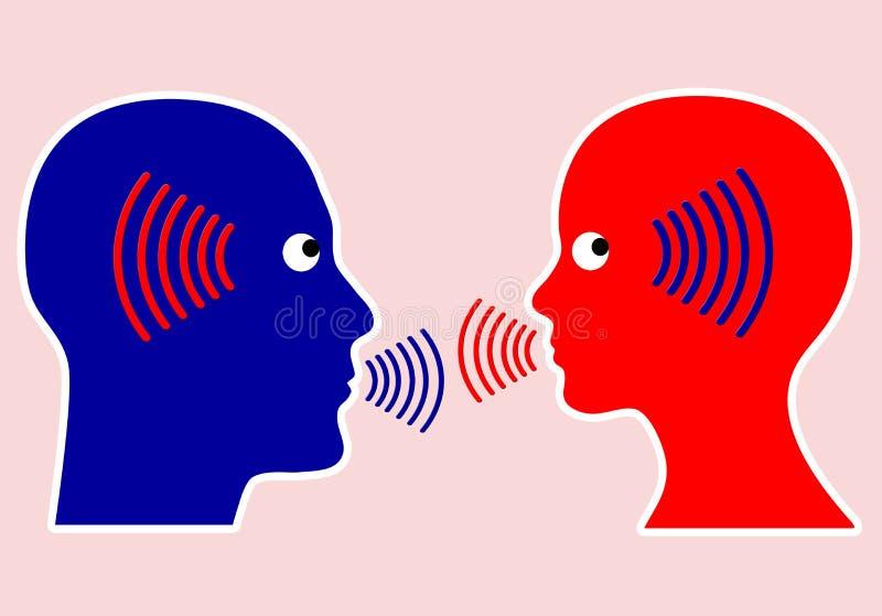 O conceito principal de uma comunicação ilustração stock