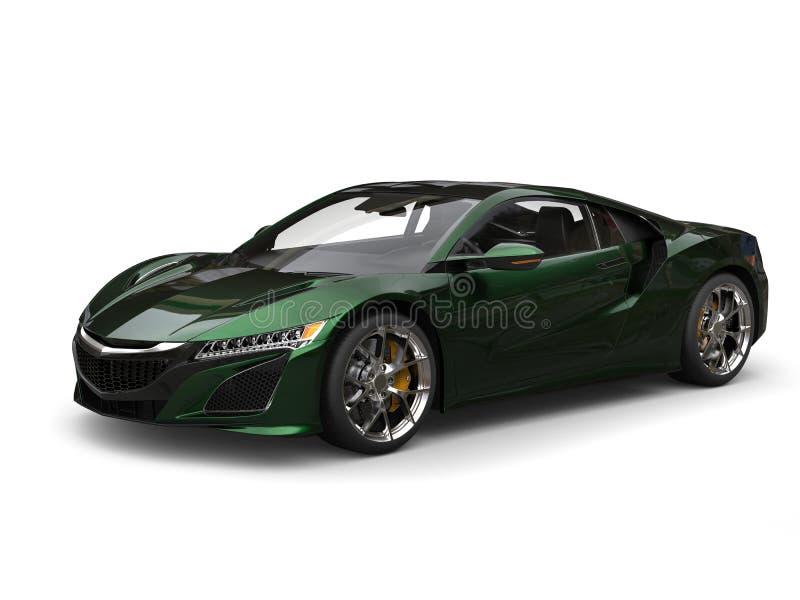 O conceito super ostenta a pintura pearlescent verde preta automobilístico ilustração royalty free