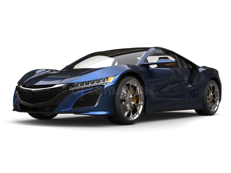 O conceito super ostenta a pintura preta e azul pearlescent automobilístico ilustração royalty free