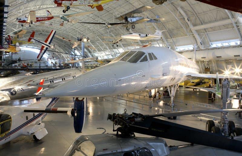 O Concorde junto com outros aviões fotografia de stock royalty free