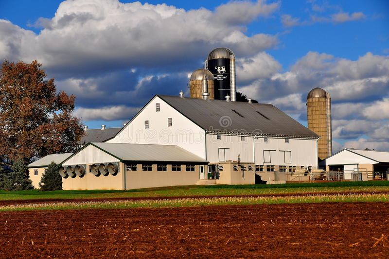 O Condado de Lancaster, PA: Exploração agrícola e campos de Amish imagens de stock royalty free
