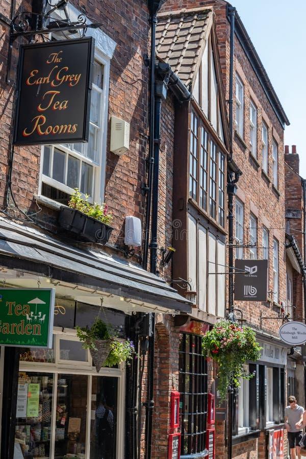 O conde Grey Tea Rooms em York, Inglaterra, Reino Unido foto de stock royalty free