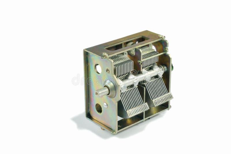 O condensador variável grande imagem de stock