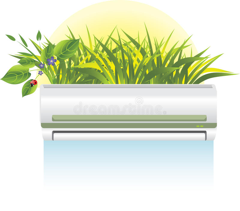 O condicionador moderno é um salvamento de um verão quente ilustração do vetor