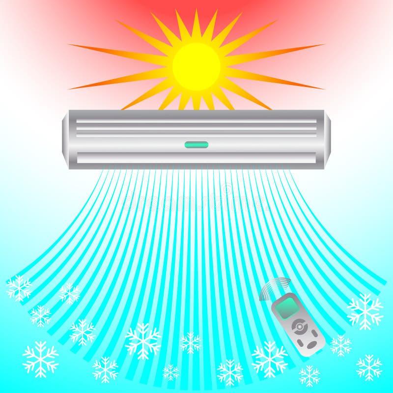 O condicionamento de ar, brisa refrigerando funde o frio fotografia de stock