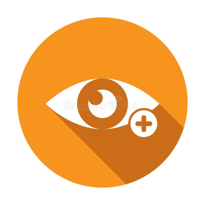 O ?cone da vista com adiciona o sinal Veja o ?cone e o s?mbolo novo, positivo, positivo ilustração stock