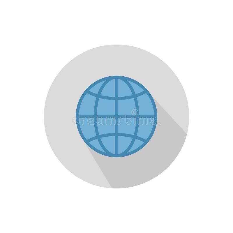 O ?cone do globo S?mbolo do globo ilustração stock