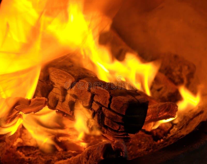 O conforto do incêndio fotografia de stock royalty free