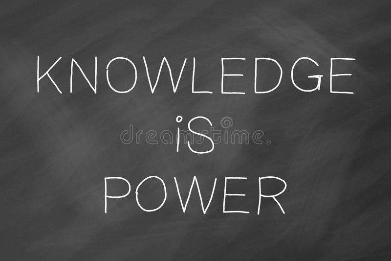 O conhecimento é conceito do poder imagem de stock