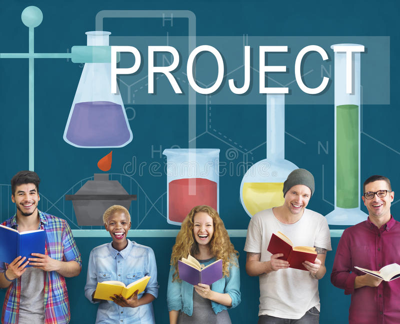 O conhecimento do projeto de investigação da ciência inova experiência Intellige ilustração stock
