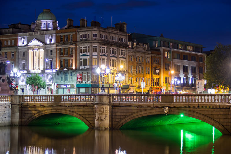 O'Connell bridge - Dublin royalty free stock photography