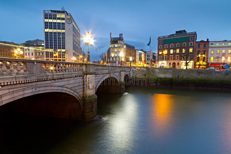 Download O'Connell Street Bridge In Dublin Stock Image - Image: 24024031