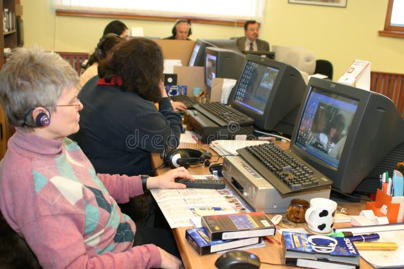 O Conselho audiovisual nacional fotografia de stock royalty free