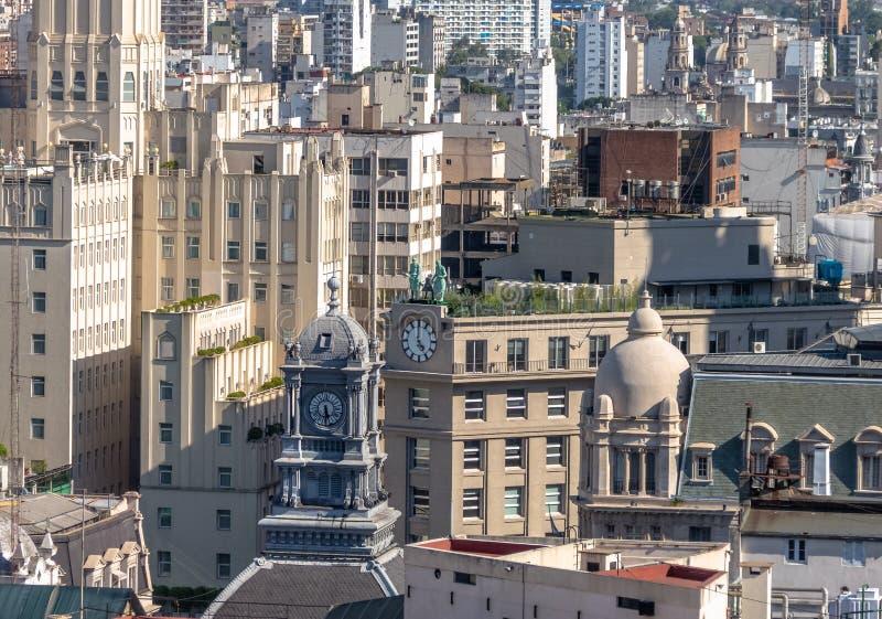 O Conselho dos magistrados da opinião aérea dentro na cidade - Buenos Aires da torre da câmara municipal do edifício nacional e d foto de stock royalty free