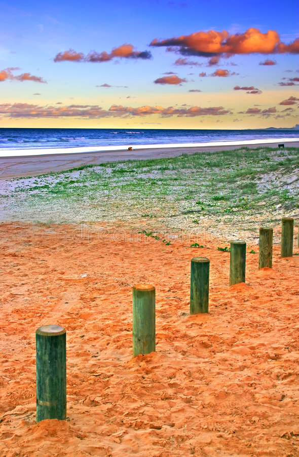 O console colorido de Fraser das areias, Austrália fotografia de stock royalty free