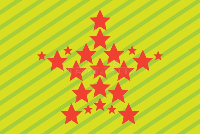 O contexto stars a bandeira da crista do teste padrão do papel de parede ilustração do vetor