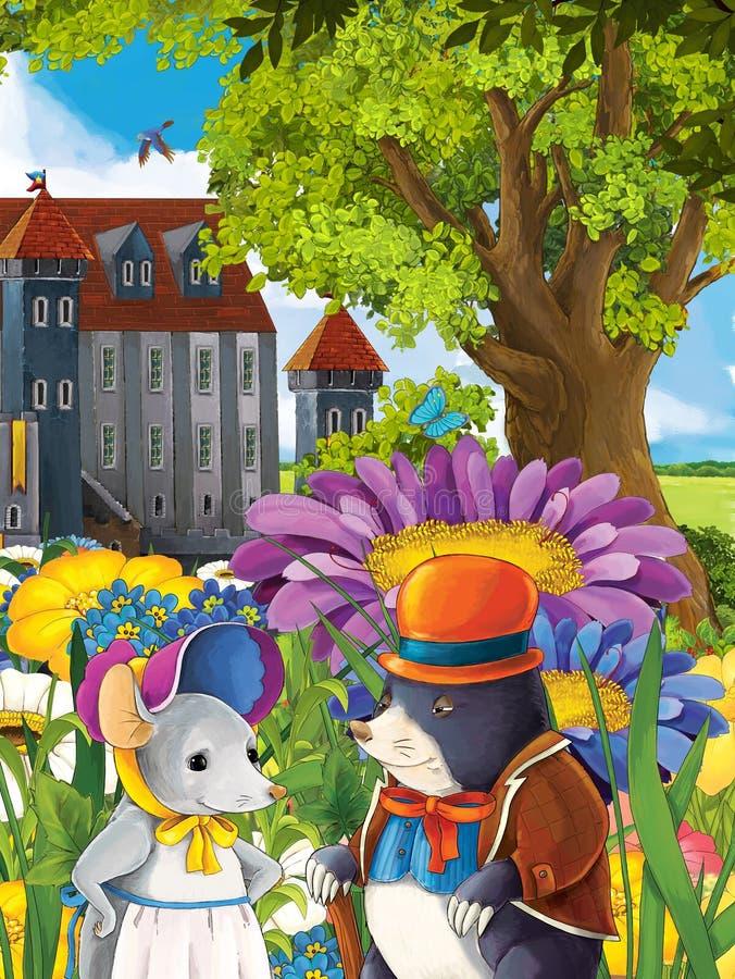 O conto de fadas com animais - estilo do manga - roedores - ilustração para as crianças