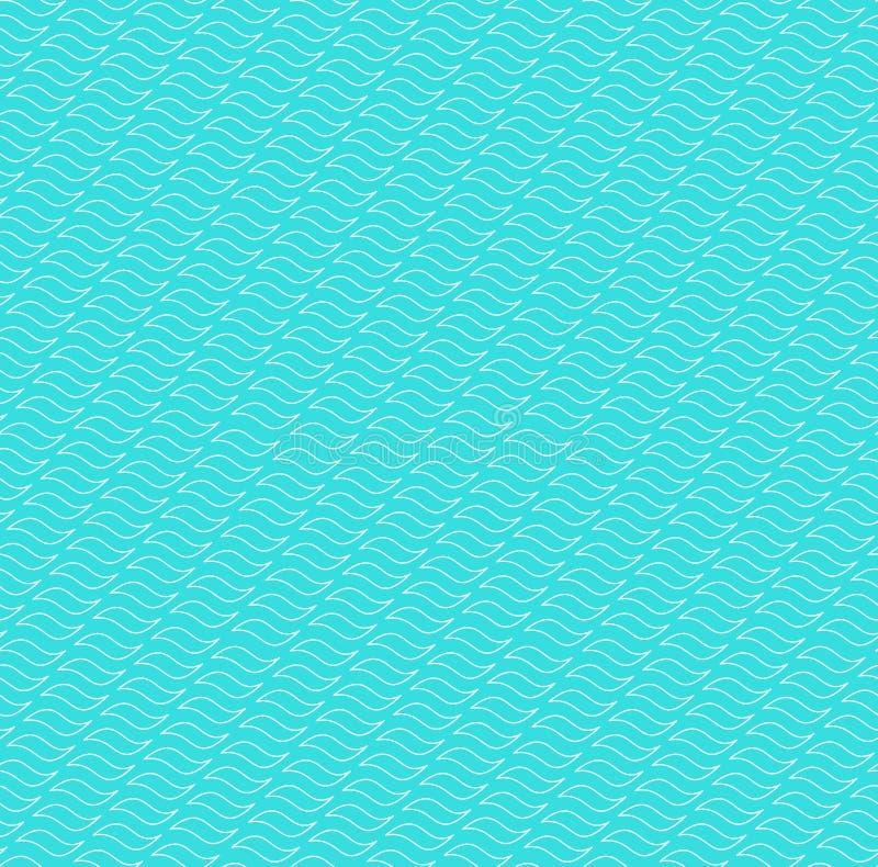 O contorno acena o fundo sem emenda do teste padrão ilustração royalty free
