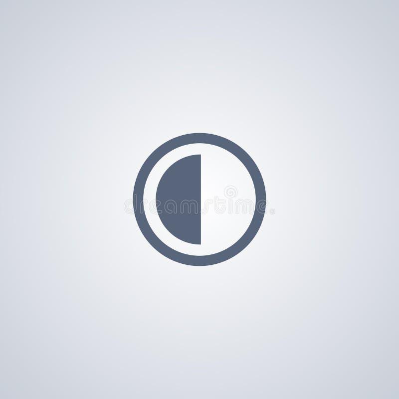O contraste, brilho, vector o melhor ícone liso ilustração do vetor