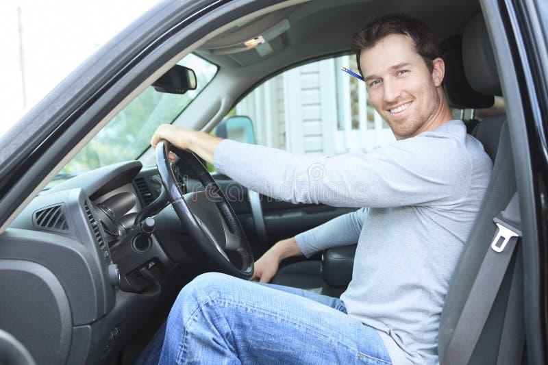 O contratante com é caminhão fotos de stock royalty free