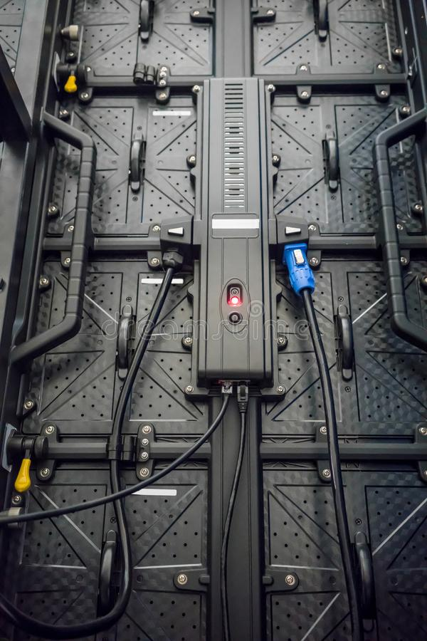O controlador de tela do diodo emissor de luz para a máquina industrial fotos de stock royalty free