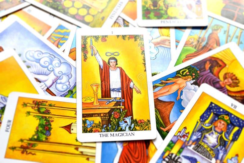 O controle da mágica de Tarot Card Power Intelect do mágico ilustração royalty free