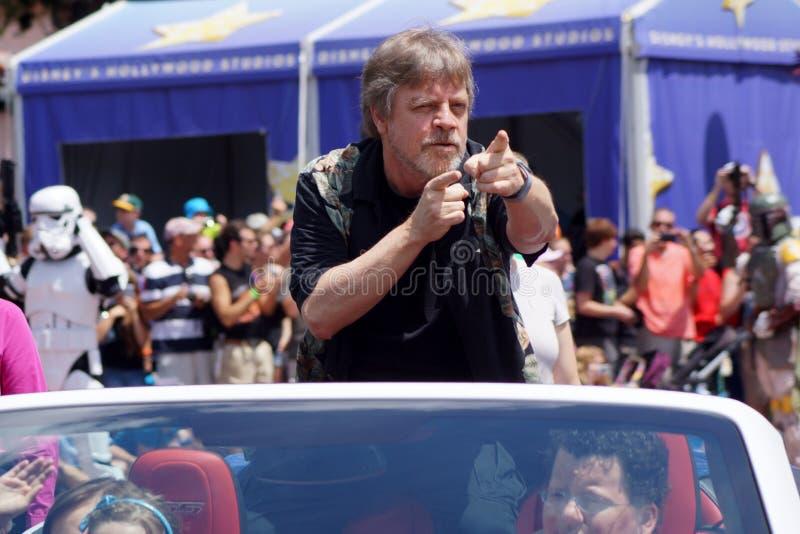 O convidado Mark Hamill da celebridade durante Star Wars Weekends 2014 imagem de stock royalty free