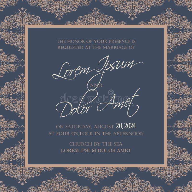 O convite do casamento e salvar os cartões de data ilustração stock