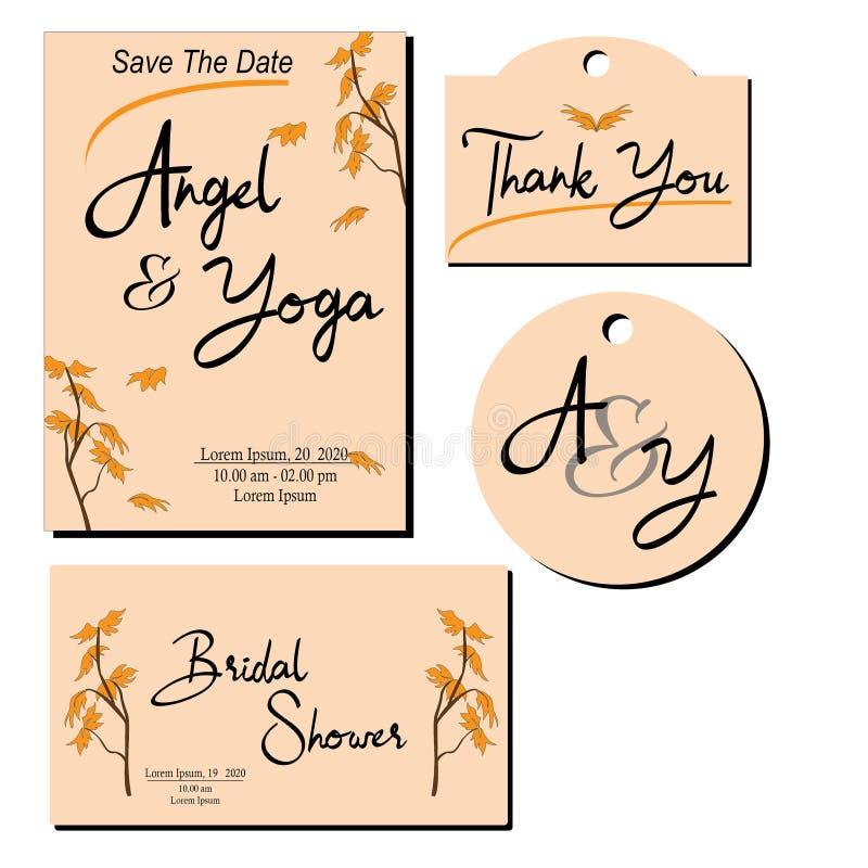 O convite do casamento faz seu dia spesial mais do que spesial ilustração royalty free