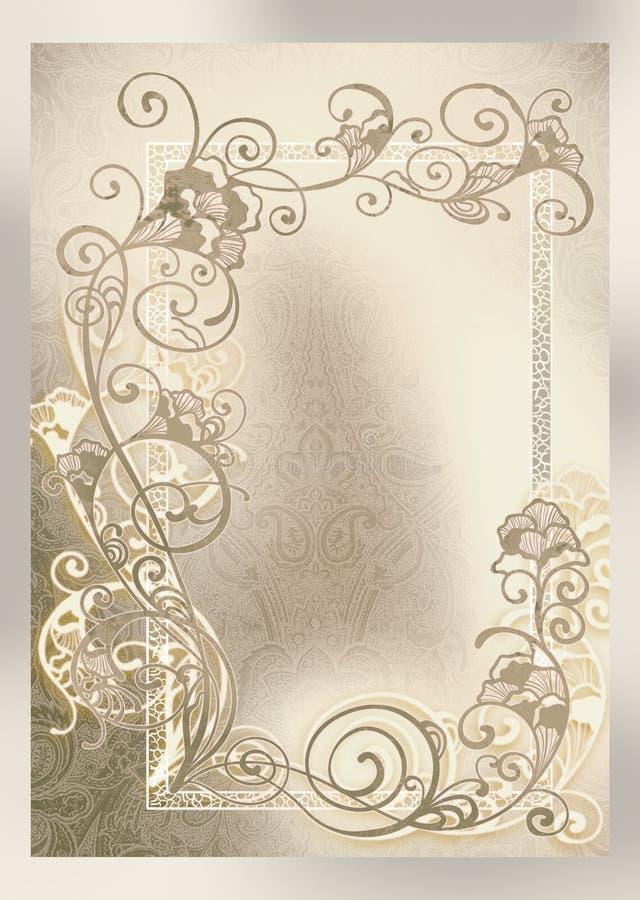 O convite do casamento, molda lace-like ilustração do vetor