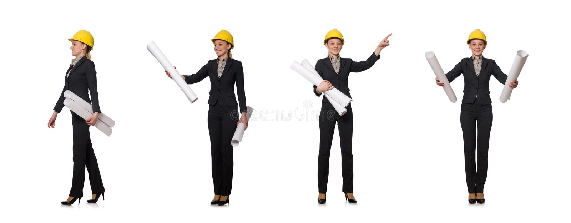 O coordenador da mulher com projetos imagem de stock royalty free
