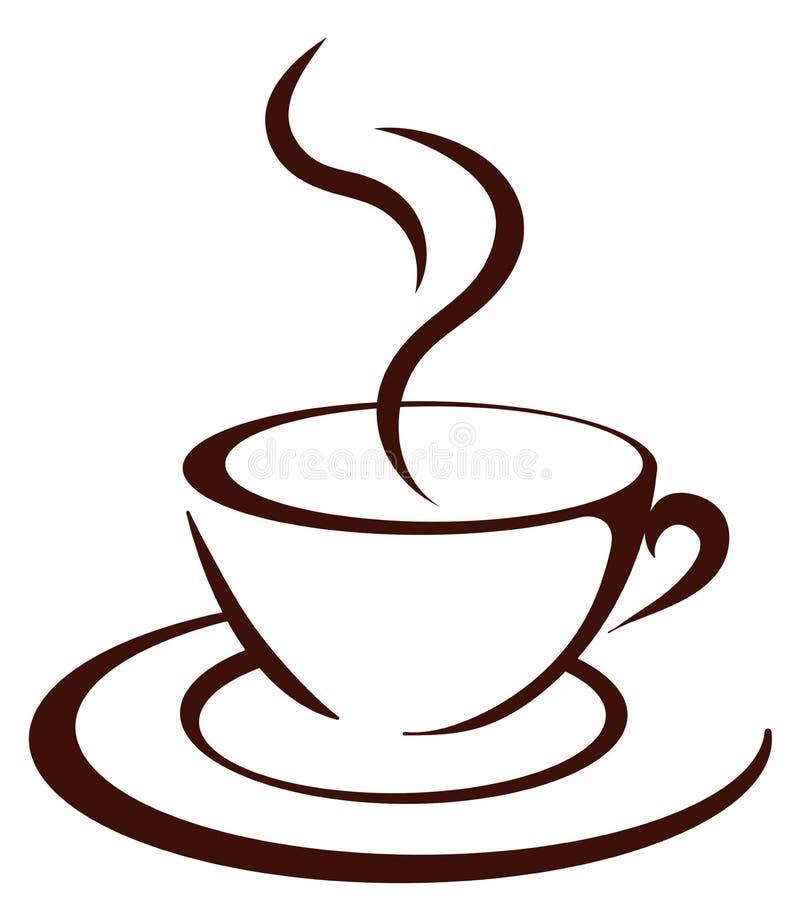 O copo de café ilustração stock