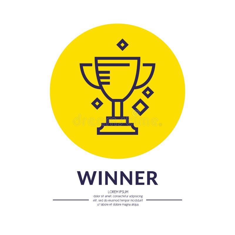 O copo de campeões Ostenta o troféu, um prêmio ao vencedor ilustração do vetor