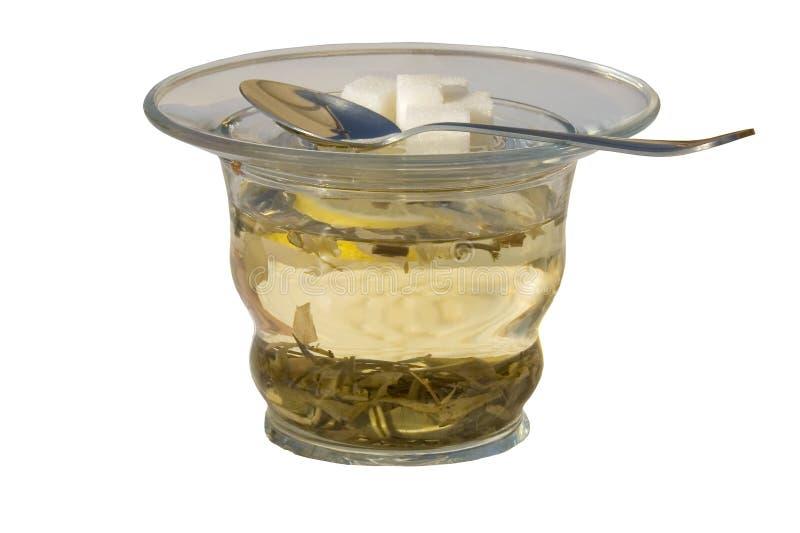 O copo do chá verde imagem de stock royalty free