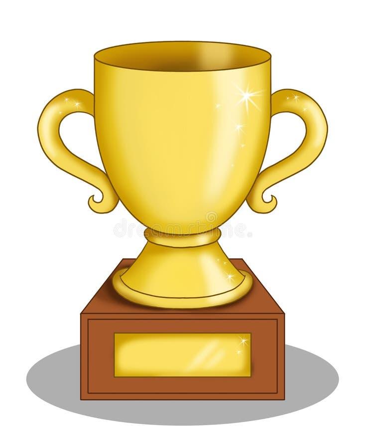 O copo do vencedor ilustração do vetor